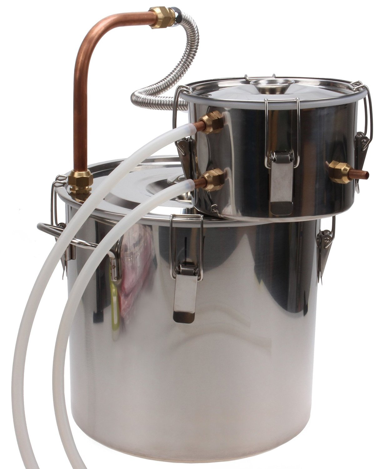 KMM 3 Gal Home Stainless Steel Distiller Water Alcohol Whiskey Moonshine Still Kit With Pump