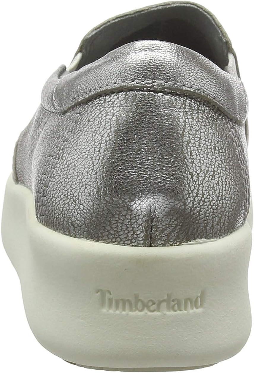Timberland Berlin Park Slip On, Sneakers Basse Donna Grigio Silver Full Grain jzT1hp