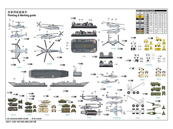 Amazon.com: Trumpeter 1/350 05615 USS Iwo Jima LHD-7: Toys ...
