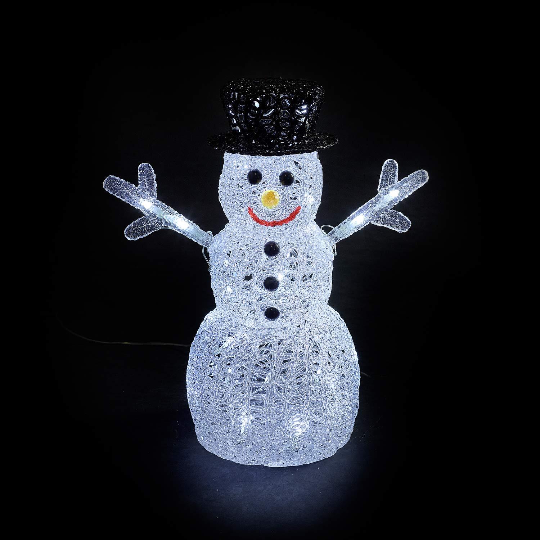 Indoor 40cm Led Acrylic Penguin Xmas Decoration Christmas Display Light Up
