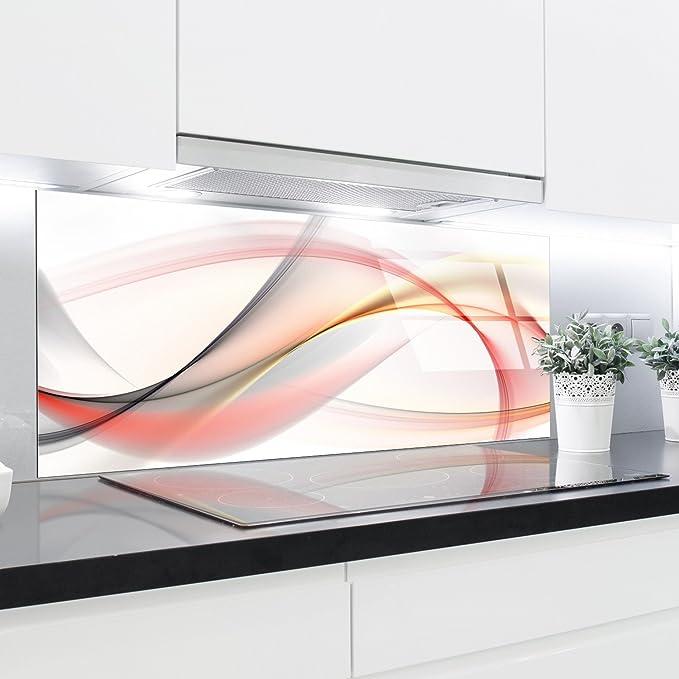 Paneles de cristal cocina Splashback – Bañador estampado resistente al calor vidrio endurecido 125 x 50 cm: Amazon.es: Hogar