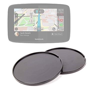 """DURAGADGET Pack De 2 Discos Adhesivos para GPS Tomtom GO 520 World 5"""", Awesafe"""