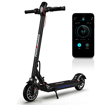 Folding Electric Scooter for Adults - 300W Brushless Motor Foldable Commuter Scooter w/ 8.5 Inch Pneumatic Tires, 3 Speed Up to 19MPH, 18 Miles, Disc Brake & ABS, for Adult & Kids - Hurtle HURES18-M5 : Sports & Outdoors