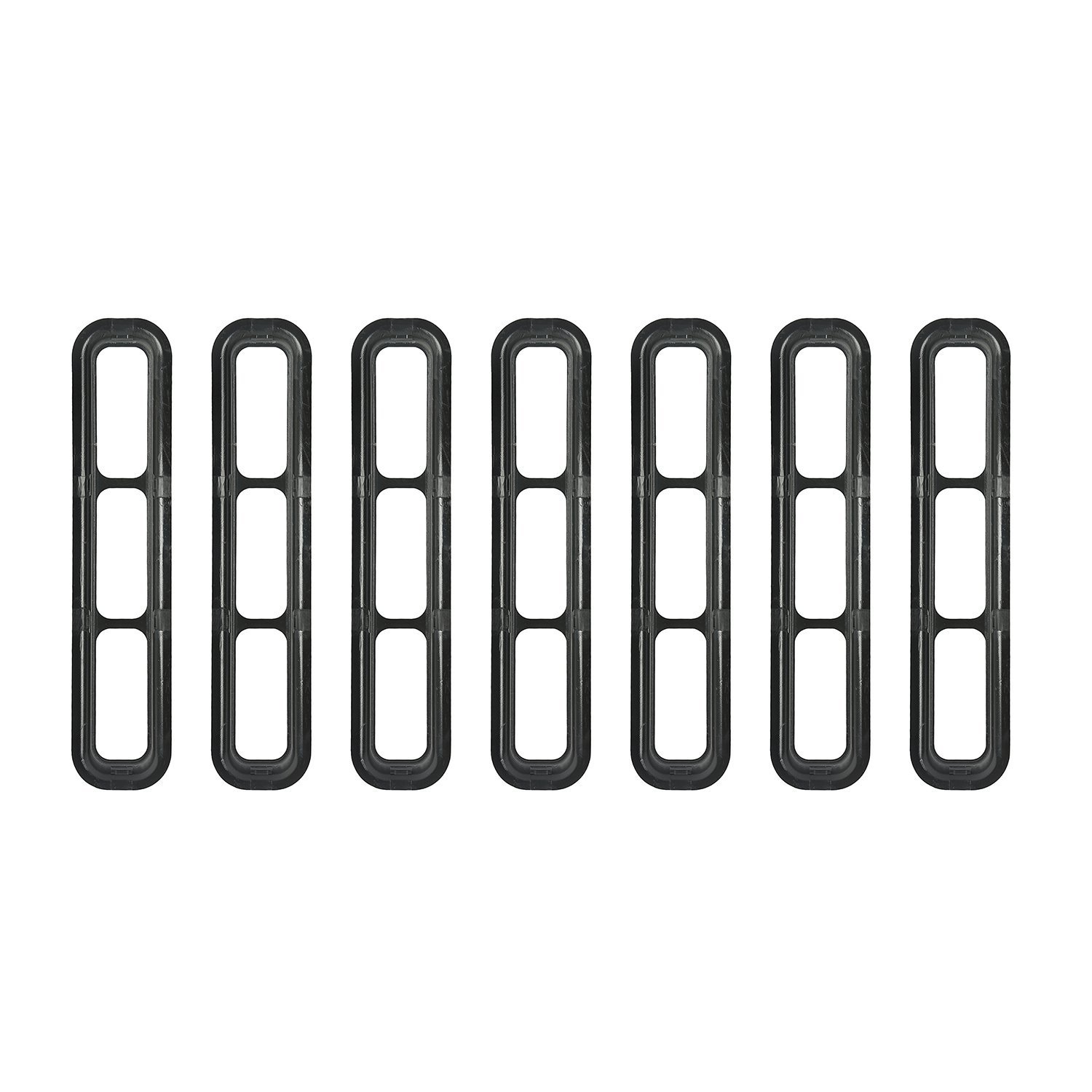 DIYTUNINGS Mesh Grill Inserts Jeep Grille Guard for Jeep Wrangler TJ & Unlimited Rubicon Sahara X Off Road Sport Exterior Accessories Parts 1997-2006 (Black)