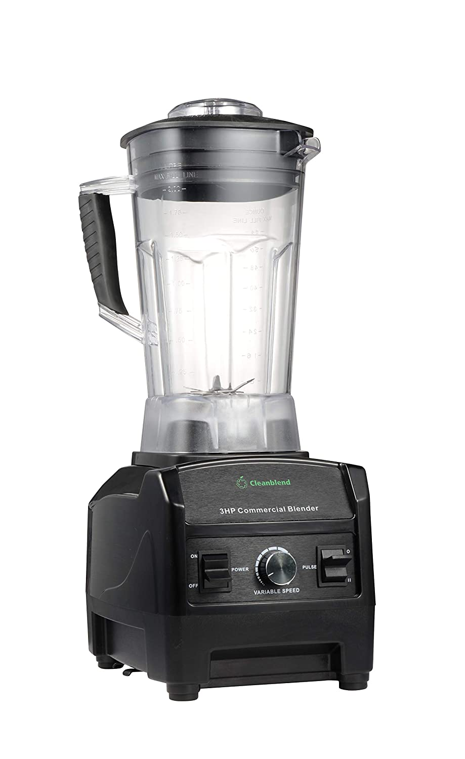 Blender By Cleanblend: Commercial Blender, Mixer, Smoothie Blender, 64 Ounce BPA Free Container, Stainless Steel 8 Blade Assembly, Variable Speed, Pulse, Tamper, Nut Milk Bag, Spatula, 3 HP 1800 Watts 2001