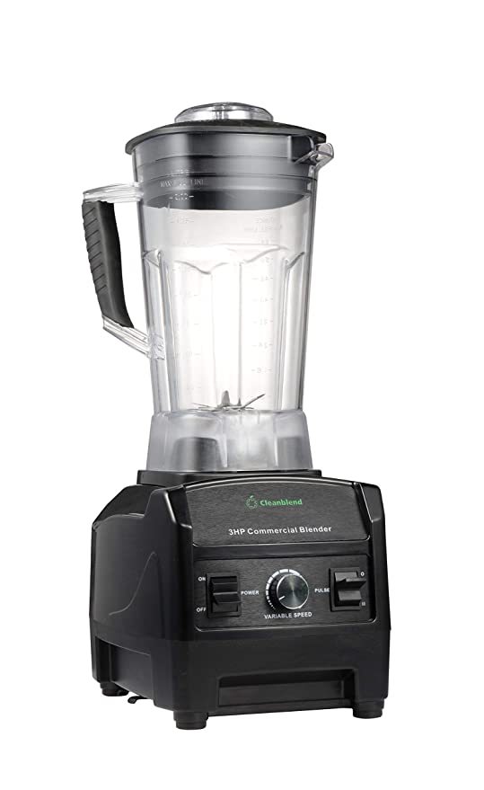 Blender By Cleanblend: Smoothie Blender, Commercial Blender, Mixer, 64 Ounce BPA Free Jar, Stainless Steel 8 Blade System, Variable Speed, Pulse, 3 HP ...