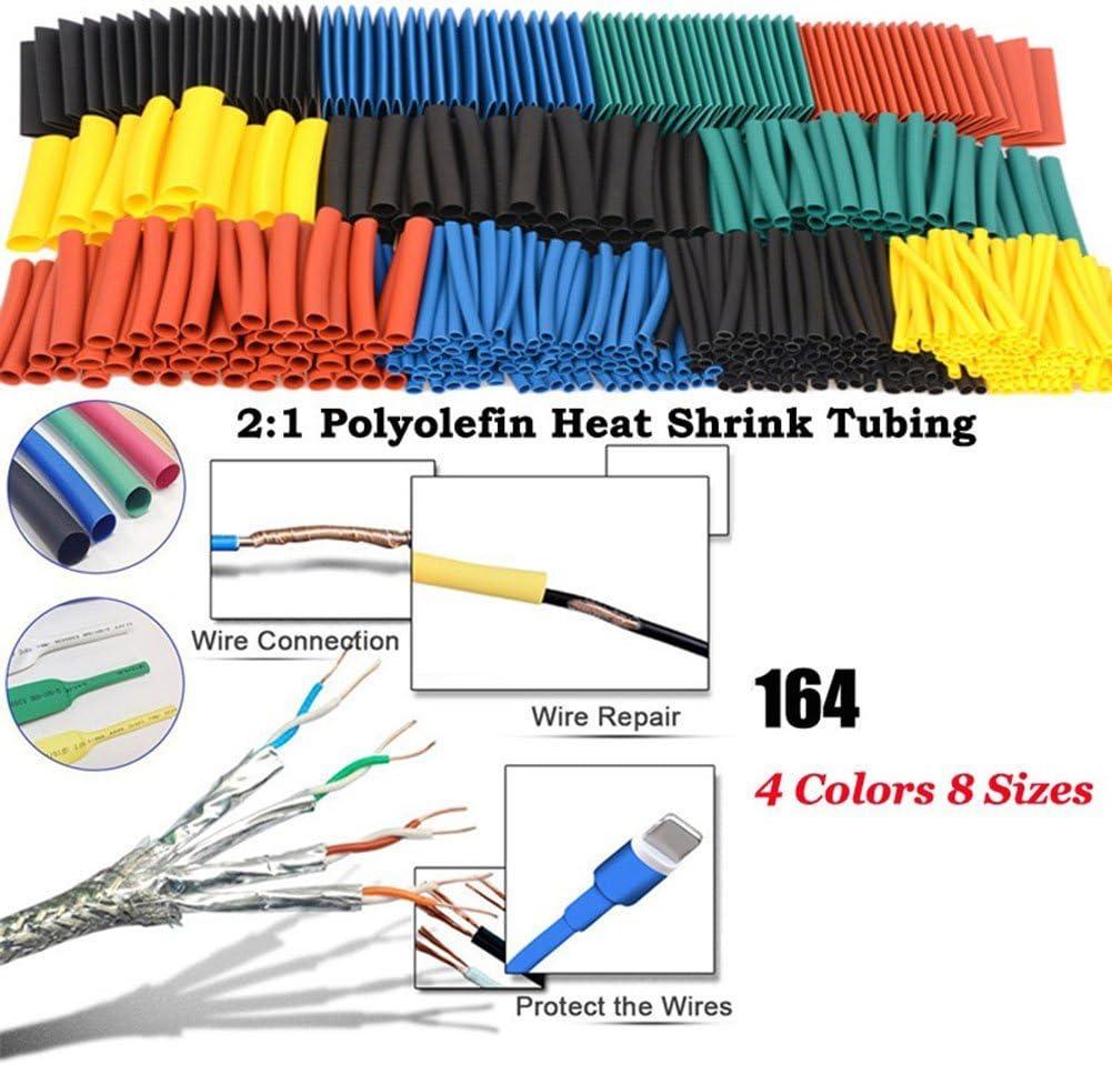 Zerama 100pcs 5 Color Encogimiento de 100 mm de Calor Tubo de la Bolsa de pl/ástico Transparente de cloruro de polivinilo Que Encoge Tubos