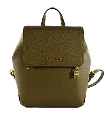 9ce856cbae8a30 Amazon.com: Michael Kors Hayes Leather Medium Backpack (Olive/Ballet ...
