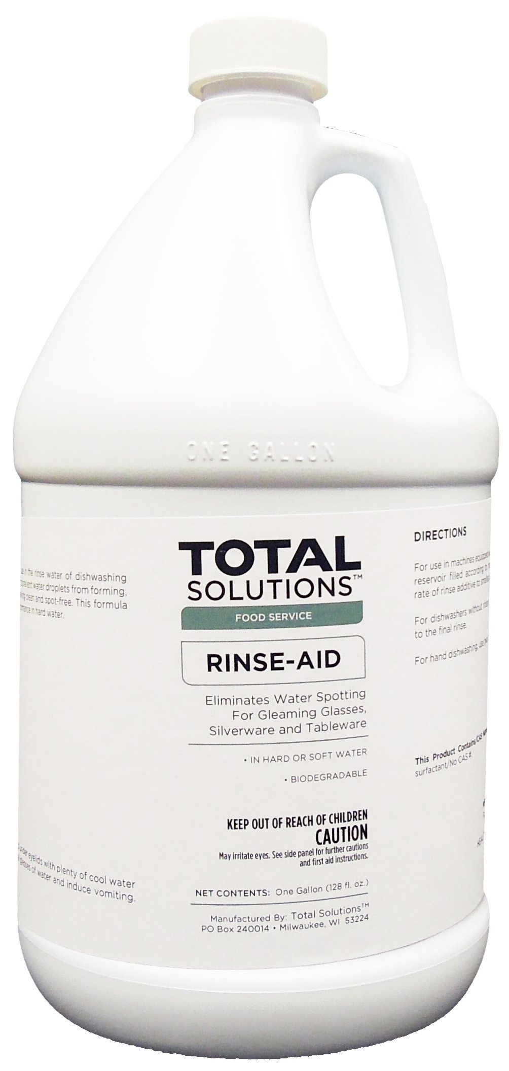 Rinse Aid, Concentrated Additive for all types of dishwashing operations - 4 Gallons