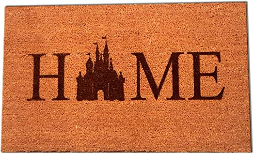 Castle Home Laser Engraved Coir Fiber Doormat 30 x 18
