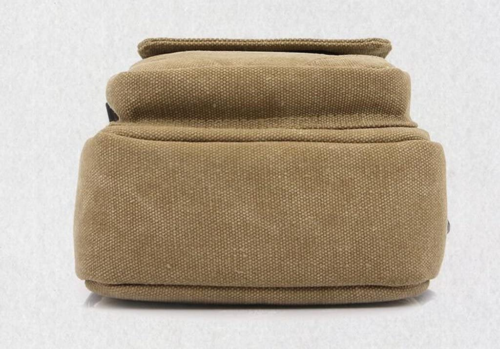 Sucastle Casual bag fashion package retro package oblique cross package shoulder bag canvas bag Sucastle Color:Light Khaki Size:17x14x6cm