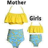iClosam Women Two Pieces Bikini Swimsuit Set Family Matching Mother Girl Swimwear Multicolored (Size S-XL)