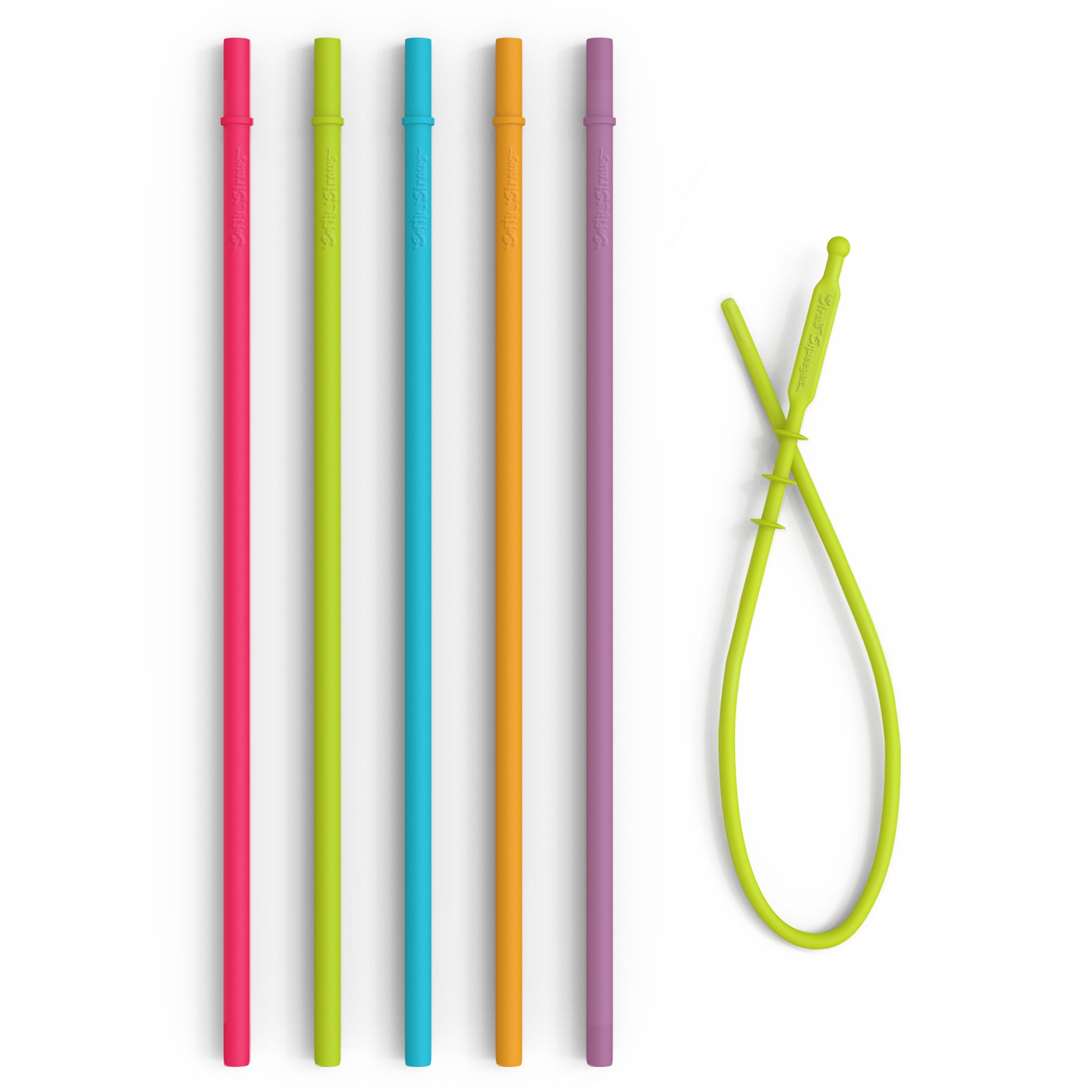Extra Long Reusable Silicone Straws - Slender Drinking Straws for Simple Modern, Starbucks, Yeti, rTic, Acrylic 24 30 40 oz Tumbler Cups - Non-Rubber Silicon Flexible BPA Free.