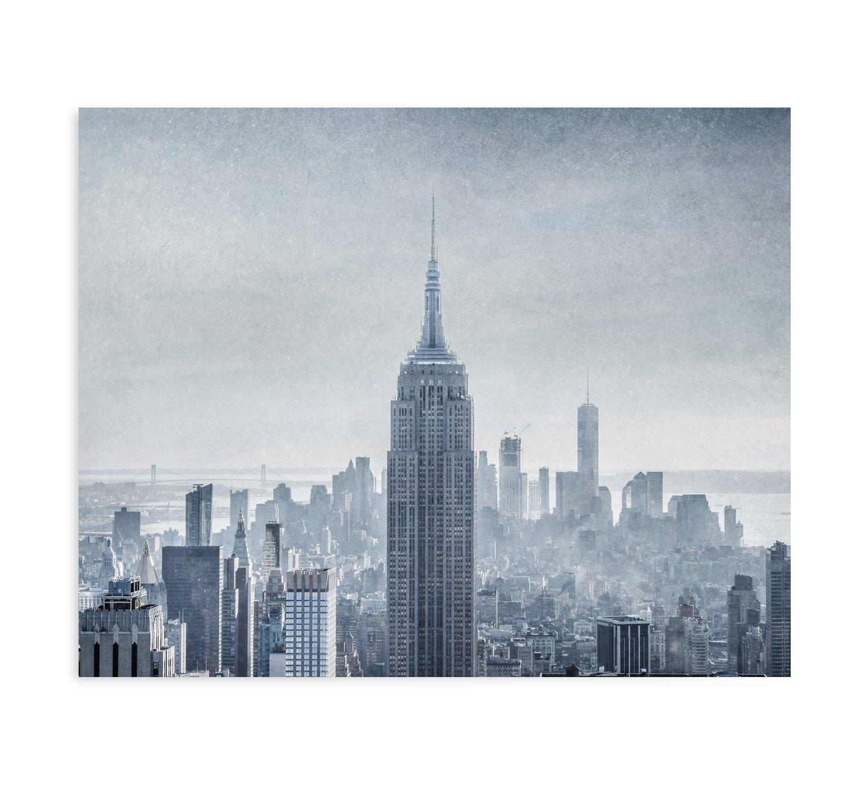 Amazon Com Large Format Print Canvas Or Unframed New York City Wall Art Manhattan Skyline Nyc Decor Empire State Building Picture Winter Metropolis Handmade