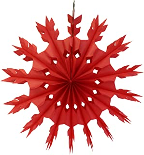 product image for 6-Pack 15 Inch Tissue Paper Snowflake Decoration (Red)