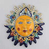 Mexican Talavera Ceramic Sun Face Wall Decor Hanging Pottery Folk Art # 10