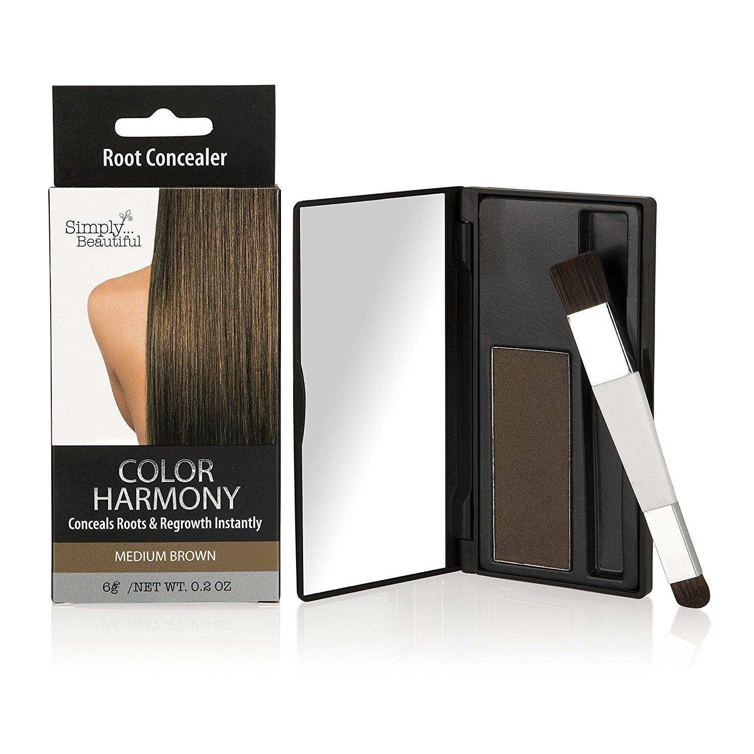 Color Harmony Root Touch Up Powder Conceals Grey Roots – Water Resistant, Non-Sticky, Simple To Apply And Mess Free (Medium Brown) Second Glance Beauty