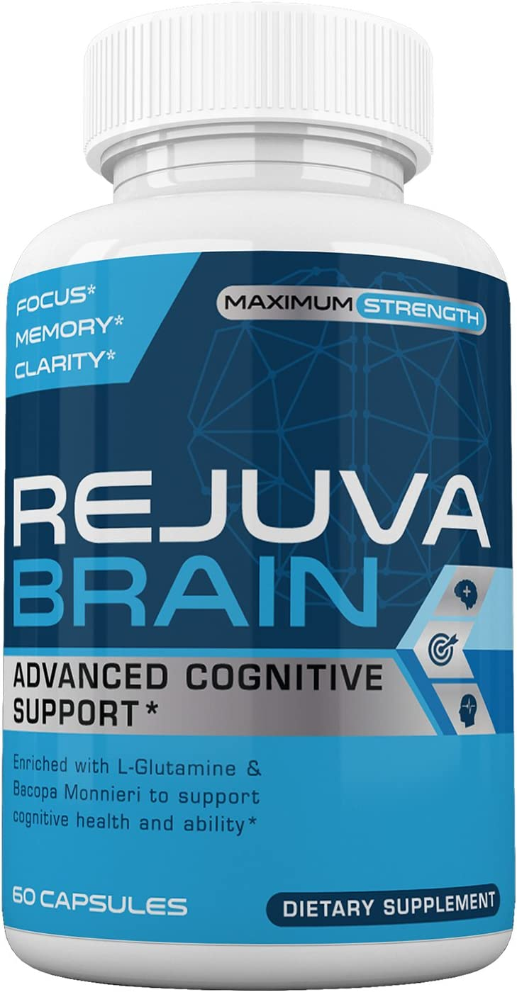Rejuva Brain- Advanced Cognitive Support- Enriched w L-Glutamine Bacopa Monnieri to Support Cognitive Health and Ability