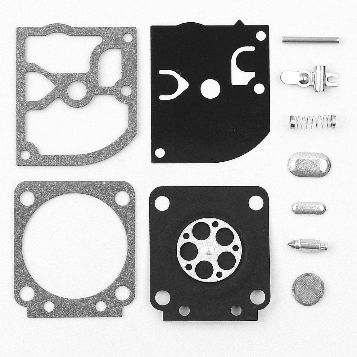 Haishine Carb Carburateur Reconstruire kit de R/éparation pour Stihl Fs46/C Fs120/FS200/Fs250/FS300/Fs350/Sh55/Sh85/BG 45/46/55/65/85/Trimmers # Zama Rb-89