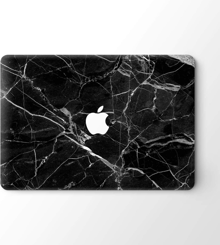 "DowBier MacBook Decal Vinyl Skin Sticker Cover Anti-Scratch Decal for Apple MacBook (MacBook Air 13""/Inch 2018 Release(A1932), Black Marble)"