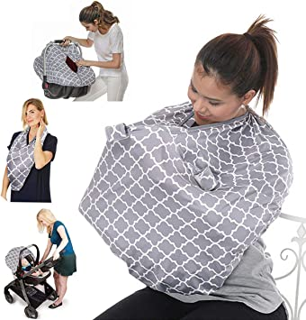 Baby Nursing Cover /& Nursing Poncho 360/° Full Privacy Breastfeeding Protection Stroller Cover Baby Shower Gifts for Boy/&Girl Multi Use Cover for Baby Car Seat Canopy Shopping Cart Cover