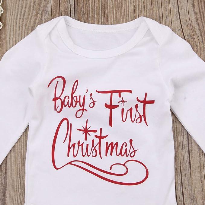 T TALENTBABY My 1st Christmas pantalones diadema Juego de ropa para reci/én nacidos de manga larga