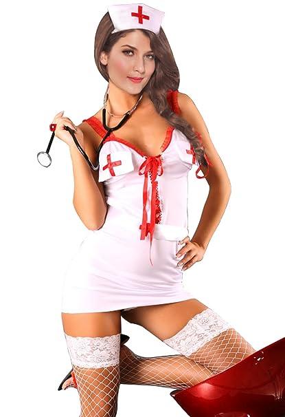 Amazon.com: Sexy Nurse – Disfraz de enfermera sexy mujer ...