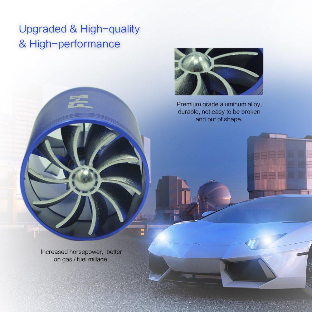 KKmoon Supercharger de Ventilador Turbo de Coche Universal Fuel Gas Saver con Turbina de Sobrealimentación de Única Admisión: Amazon.es: Coche y moto