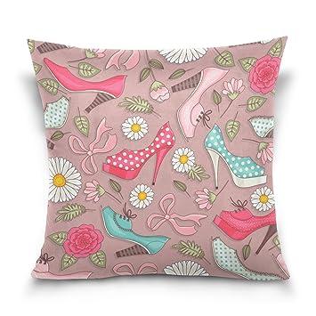 Top Carpenter Women s Shoes And Flowers Velvet Plush Throw Pillow Cushion  Case Cover - 20 quot  1e8ffc216d