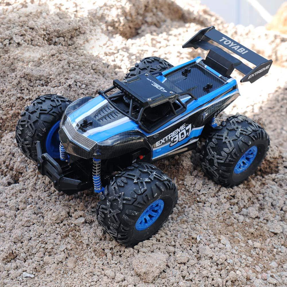 GizmoVine RC Coche Teledirigido Vehículo Hobby, 1/18 Monster Truck 2.4GHz Fuera del Camino Coches Juguetes Control Remoto Eléctric Camión Monstruo para ...