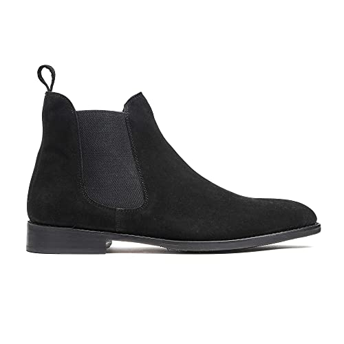 Amazon Timberlux New York Black Chelsea Suede Boots Men Dress