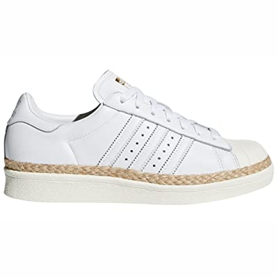 Adidas Superstar 80s W Blanc Et Rose. Chaussures Femme Cuir Sneakers Baskets (38 EU, White/Off White)