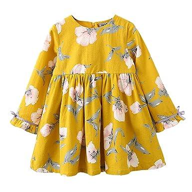 6eff964eacf02 MIOIM ベビー服 子供服 女の子 ワンピース 花柄 ドレス 可愛い 長袖 春 秋 冬 旅行 通園