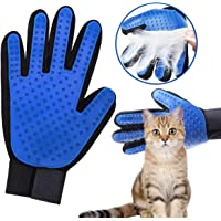 Pet Grooming Glove Dog Brush-Efficient Pet Hair Remover,Gentle Deshedding Brush ,Pet Glove Brush Enhanced Five Finger Design Perfect for Dogs and Cats with Long & Short Fur (Right Glove)