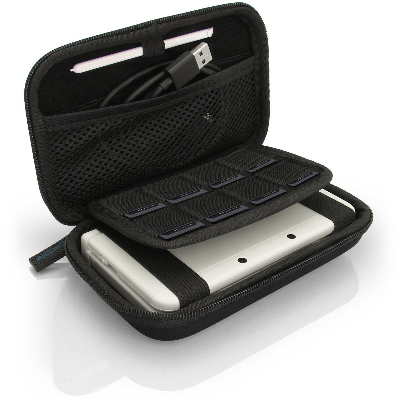 igadgitz U3609 - EVA Hard Case Cover Compatible with Nintendo 3DS XL & 2DS XL 2017 - Black