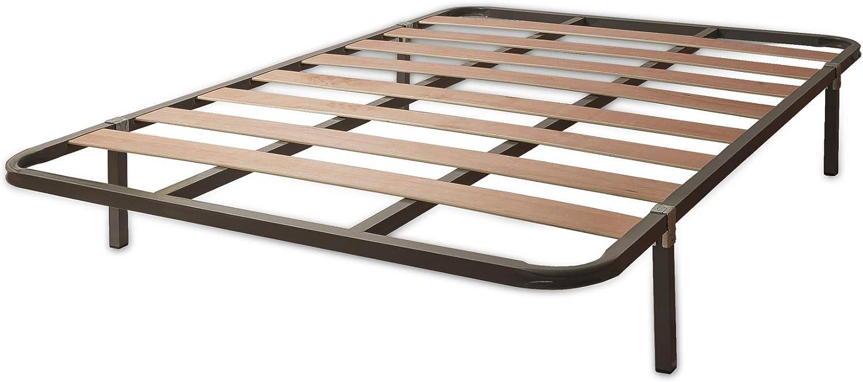 MUEBLIX.COM | Somier Eco para Cama 150 x 190 cm | Somier con 4 Patas | Láminas Madera de Chopo de 9 cm y Estructura de Tubos de Acero | Útil para ...