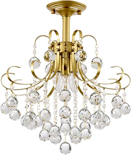 Crystal Chandelier,SOZOMO 3-Lights Modern Crystal Chandelier