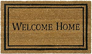 Rubber-Cal Contemporary Welcome Home Mats Natural Coir Matting, 18 x 30-Inch