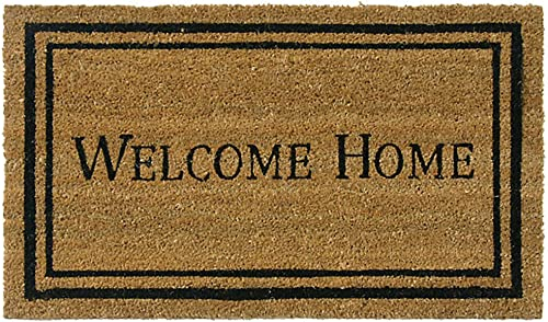 Rubber-Cal Contemporary Welcome Home Mats Coir Entrance Mats, 24 x 57-Inch