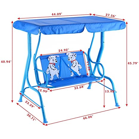 Nice Amazon.com: Costzon Kids Porch Swing 2 Person Patio Seat With Canopy:  Kitchen U0026 Dining