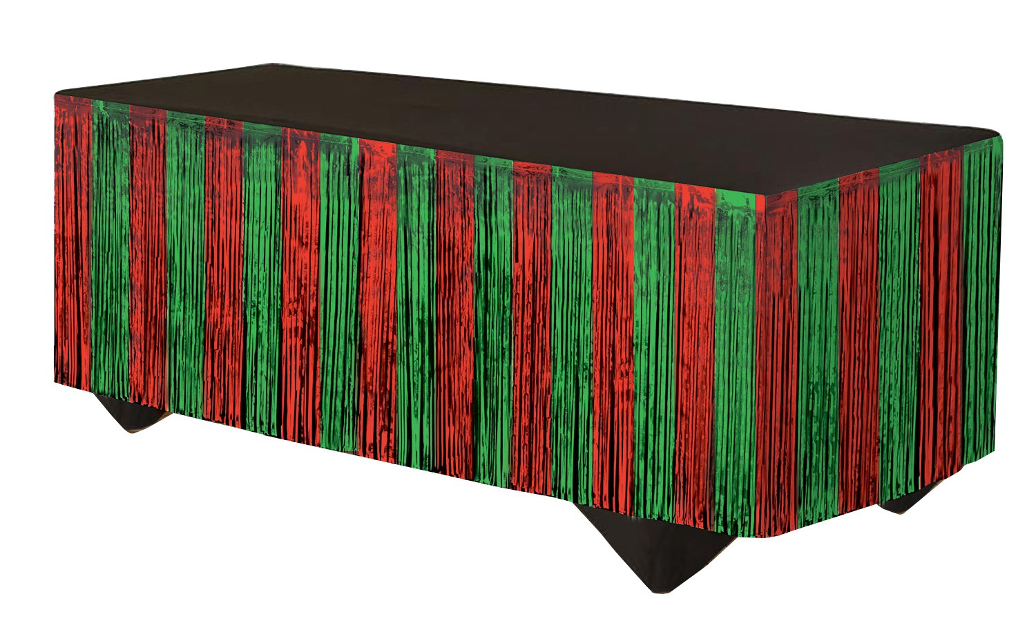Forum Novelties 76190 Party Supplies Tinsel Fringe Table Skirt Red//Green 14 x 29