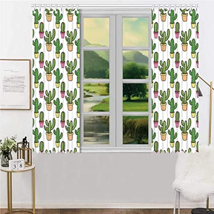 Amazon.com: YOLIYANA Cactus Durable Curtain,Vases and Pots ...