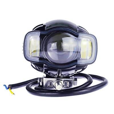 RTD Motorcycle LED Headlight Super Bright CREE Chip Spot Driving Fog Lamp for Night Driving 20W ATV Harley Jeep Wrangler 1year: Automotive