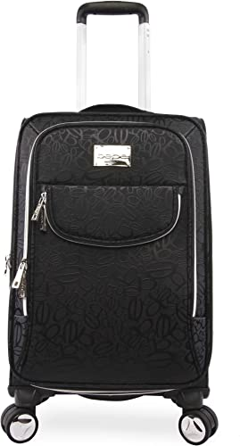 BEBE Women s Carissa 21 Expandable Spinner Carry Tossed Black, One Size