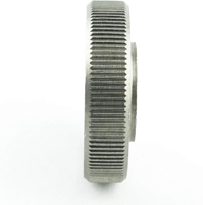 M3 R/ändelmuttern niedrige Form Eisenwaren2000 2 St/ück rostfrei - R/ändel-Mutter DIN 467 Edelstahl A1 1.4305