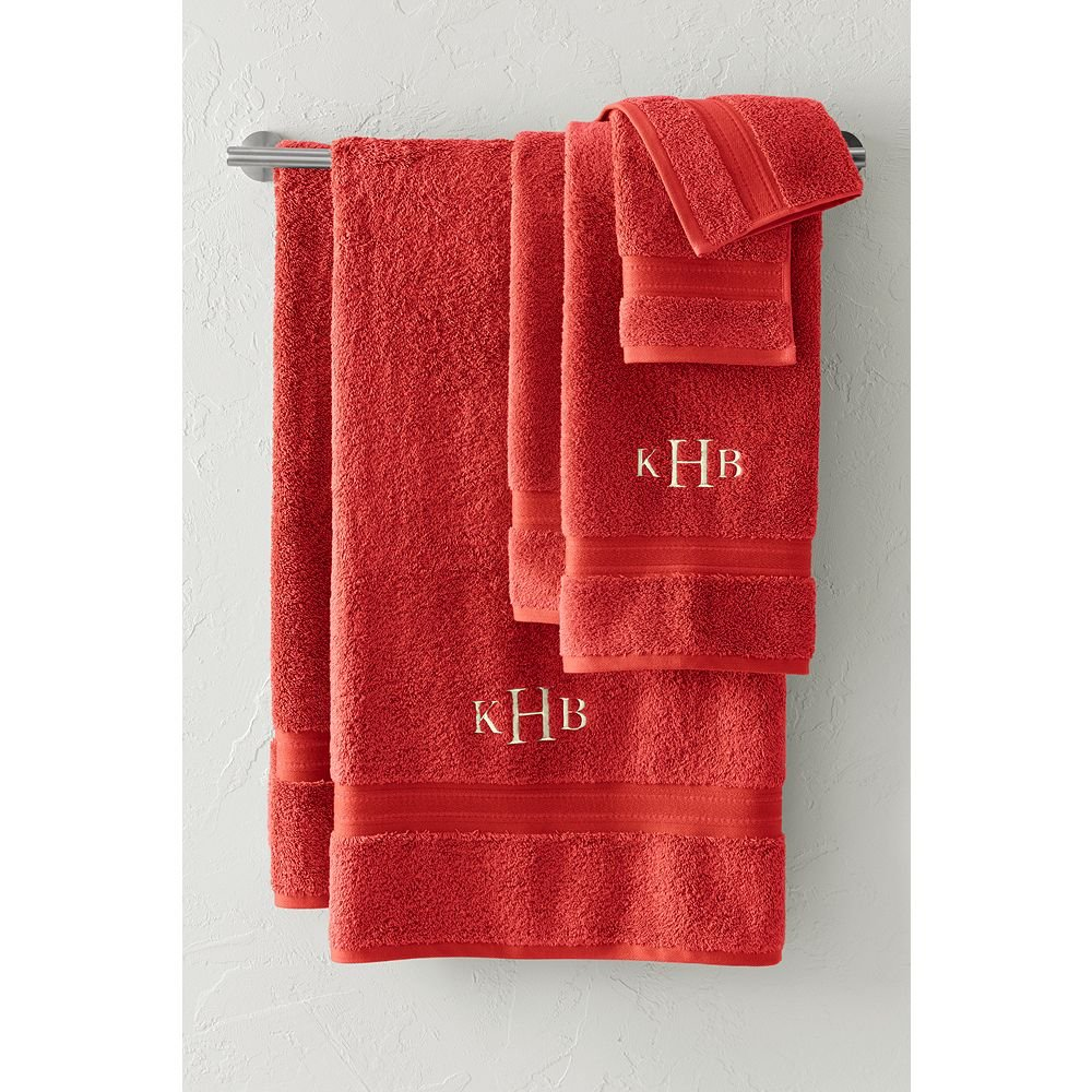 Lands' End Supima Towel 6-piece Set, Crimson Clay