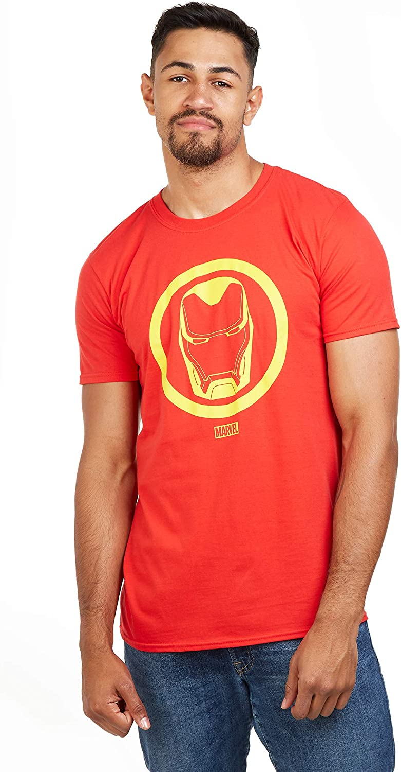 Rosso Marvel Iron Man Emblem-Mens T Shirt XXL XX-Large Uomo Red Red