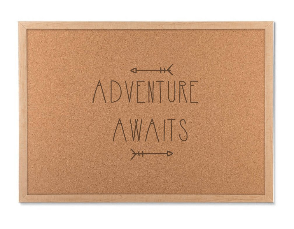 adventure awaits travel cork board - inspiration travel planner - gifts for travelers