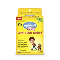 Kids Oral Pain Relief Tablets by Hyland's 4Kids, Natural Relief of Toothache, Swelling...