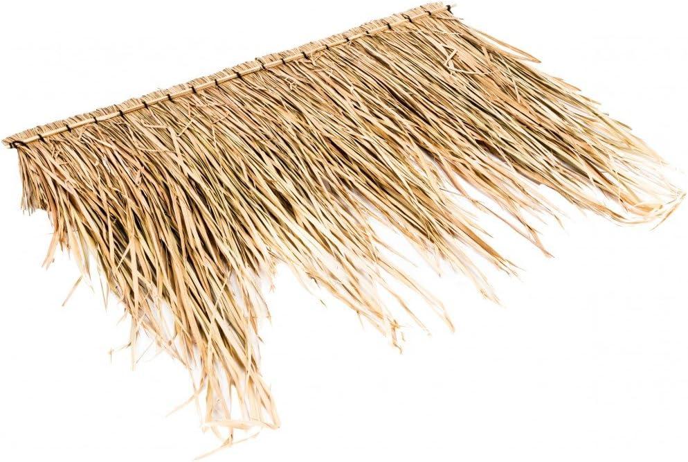 Panel para el techo con hojas de palmera de NaDeco, aprox.100 cm, techo de hojas de palmera, techo de bambú, con palmas
